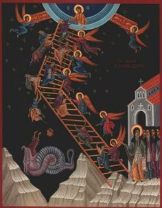 """""""Do not be surprised that you fall every day; do not give up, but stand your ground courageously. And assuredly, the angel who guards you will honour your patience."""" St. John Climacus"""