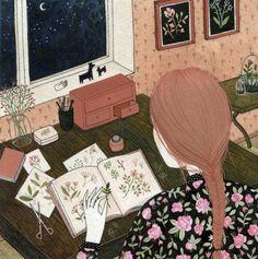 L'armadio del delitto - blog vintage e moda retro: Yelena Bryksenkova, i gatti e le carte da parati