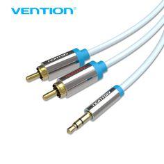 Vention RCA Jack Câble 2RCA mâle à 3.5 mâle Câble Audio 2 m 3 m 5 m Aux Câble pour Edifer Home Cinéma DVD VCD iPhone Casque