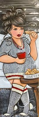Café et biscuits Pin Up, Plus Size Art, Fat Art, Chubby Ladies, Isabelle, Plus Size Beauty, Fat Women, Black Women Art, Whimsical Art