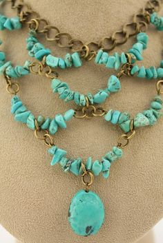 RESERVED for Julie  Turquoise Bib Necklace