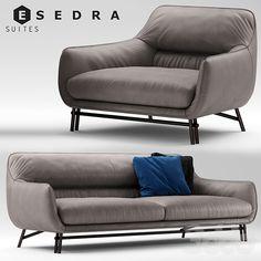 Диван и кресло Esedra by Prospettive VENICE Sofa