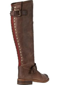 Steve Madden Shoes - Lynxx Riding Boot Brown Leather