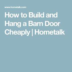 How to Build and Hang a Barn Door Cheaply Shower Curtain With Valance, Wine Barrel Table, Door Headboards, Barn Wood Crafts, Primitive Bathrooms, Funky Junk Interiors, Diy Barn Door, Barn Doors, Wooden Lanterns
