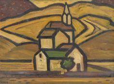 Miloš Alexander Bazovský  1899-1968  Kostol fara škola