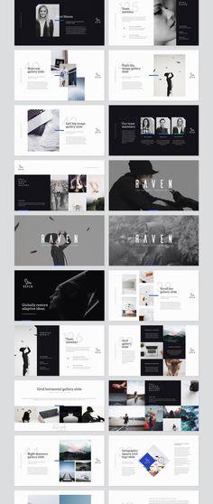 Raven Keynote Presentation — Presentation on – Carlotta Halbrock – Design Keynote Presentation, Presentation Slides Design, Presentation Templates, Project Presentation, Portfolio Presentation, Presentation Folder, App Design, Slide Design, Layout Design