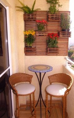 30 Beautiful Small Balcony Ideas For Limited Space - Balcony Garden Decor, Small Balcony Decor, House Design, Outdoor Decor, Patio Decor, Home Decor, Apartment Decor, Home Deco, Outdoor Furniture Sets