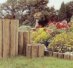 GARDEN LANDSCAPING Log Roll Edging 15cm 22.5cm 30cm 45cm