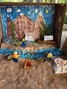 Jake's 4th Grade Diorama depicting the California Gold Rush.
