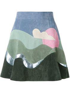 юбка в стиле колор блок