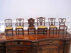 Period chairs in 1/12 scale