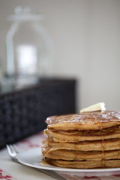Whole Wheat Gingerbread Pancakes by Laura #Pancakes #Gingerbread