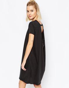 Image 1 - Cheap Monday - Robe t-shirt à dos découvert et drapé