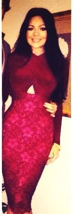 """""""Loved wearing my dress from Hire The Catwalk in Portugal"""" - 'Carvella' gradient bandage dress"""