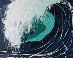 'Dark Wave'  Inspired by my beautiful surrounds in the coastal town of Inverloch, I have started a new series of paintings 'Waves'.  Modern Art by Annette is a unique collection of contemporary paintings.