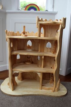 Gorgeous handmade wooden play castle. #woodentoys #waldorftoys