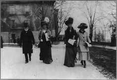 Andrew Carnegie with wife Louise Whitfield Carnegie, sister-in-law Estelle (Stella) Whitfield, and daughter Margaret (circa 1911)