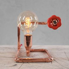 STOPO Copper Table Lamp by Zapalgo on Etsy, $267.00