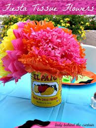 Great Cinco de Mayo floral arrangement with tissue flowers and an empty can.