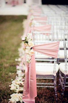 32 Gorgeous Wedding Aisle Decorations to Shine Wedding decorations Wedding Chair Decorations, Wedding Chairs, Wedding Table, Romantic Decorations, Decor Wedding, Garden Wedding, Wedding Aisle Outdoor, Wedding Ceremony, Wedding Arches