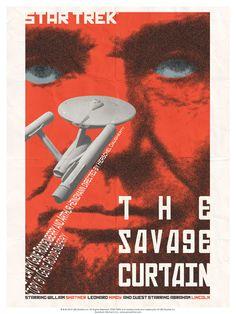 Episode 77: The Savage Curtain - Original Star Trek Series Poster by artist Juan Ortiz