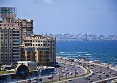 Stunning view of #Alexandria City - Car Rental Egypt city #tour for booking visit : egyptcarsrental.com