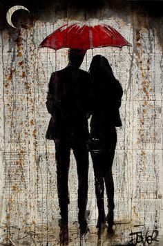 Some Rainy Day Canvas Artwork by Loui Jover Canvas Artwork, Canvas Prints, Art Prints, Red Artwork, Colorful Drawings, Art Drawings, Rainy Day Drawing, Newspaper Art, Umbrella Art
