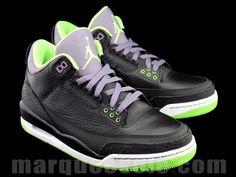 Air Jordan 3 Black/Purple/Green « JOKER »