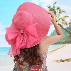 straw hats for women Picture - More Detailed Picture about 2017 Straw Hats For Women's Female Summer Ladies Wide Brim Beach Hats Sexy Chapeau Large Floppy Sun Caps New Brand Spring Praia Picture in Sun Hats from Yu Xi Hat Wholesale And Retail Fashion Night, Women's Summer Fashion, Swag Fashion, Fashion Hats, Fashion 2018, Fashion Online, Turbans, Floppy Sun Hats, Straw Hats