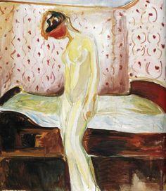 Edvard Munch - circa 1907, Weeping Woman. Munch-museet  (Norway - Oslo)