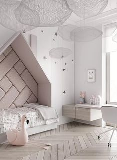 Amazing Kids bedroom layouts - the uber hip kiddies are courses at good taste's . ♡ Amazing Kids bedroom layouts - the uber hip kiddies are courses at good taste's Baths. Colorful, trendy, and creative, check out 18 kids' rooms that a. Small Room Bedroom, Modern Bedroom, Girls Bedroom, Small Rooms, Master Bedroom, Trendy Bedroom, White Bedrooms, Luxury Kids Bedroom, Room Design Bedroom