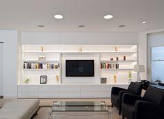 Built in living room storage