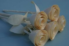 5th anniversary 5 Natural Wood Roses for 5 year wedding Five Handmade Wooden Roses Centerpiece Birthday gift flowers * Find out more about the great product at the image link.Note:It is affiliate link to Amazon.