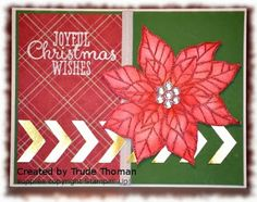 Stamp With Trude: Stampin' Up! Joyful Christmas card
