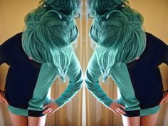 or turquoise? too much choice in hair colour!!