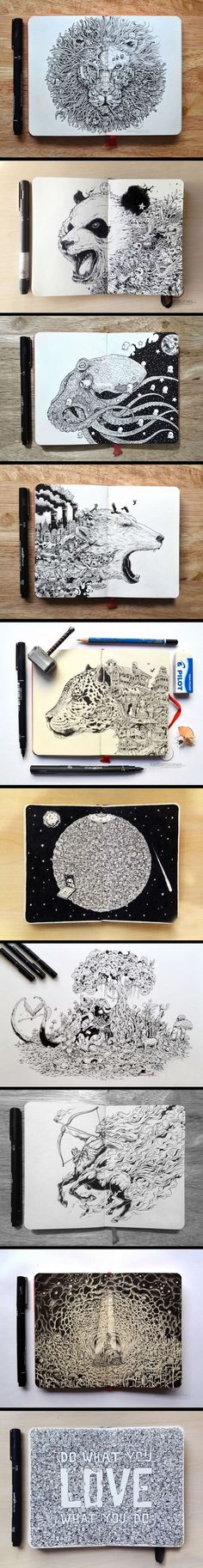 Hyper-Detailed Drawings by KERBY ROSANES