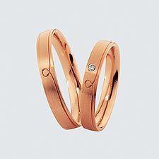 Verighete din aur roz cu briliante.  Cu interiorul bombat, pentru un confort maxim la purtare Gold Rings, Wedding Rings, Rose Gold, Engagement Rings, Bracelets, Silver, Jewelry, Hochzeit, Charm Bracelets