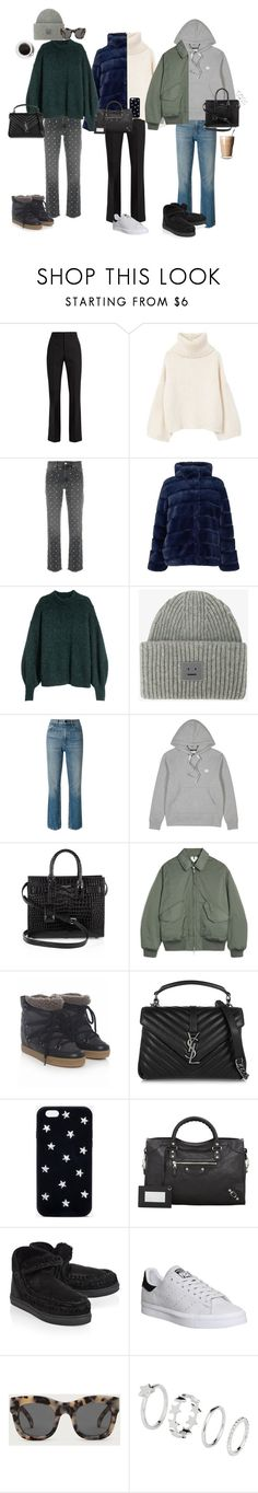 """A Sunday Morning"" by johannajohannas ❤ liked on Polyvore featuring Yves Saint Laurent, MANGO, Isabel Marant, Samsøe & Samsøe, Acne Studios, Alexander Wang, STELLA McCARTNEY, Balenciaga, Mou and adidas"