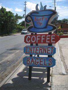 Surfs up coffee shop sign #Inspo