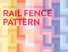 Free patterns and tutorials are consistentlybeing added, so sign up for the newsletter to get updates!Click here to sign up. There are three groups of people that should definitely try out the Rail Fence Quilt Pattern:Quilters who are really good at sewing quarter-inch seams. You know who you are. You rock the quarter-inch seam. You …