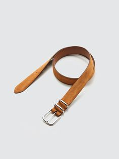 The Suede Belt is the elegant way to bring your outfit, be it casual or professional, to the next level. Crafted with the top-grade suede and a solid brass buckle, this belt is handmade Italian perfection. Belt Display, Girls Belts, Tan Leather Belt, Flat Lay Photography, Brass Buckle, Leather Craft, Belt Buckles, Solid Brass, Design System