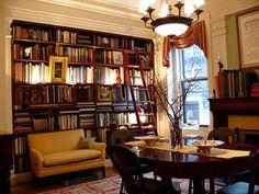 Frame for home library den designs