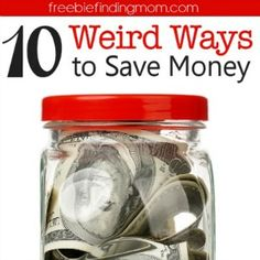 Get totally weird with your savings! Here are ten weird ways to save money that you may not have thought of before!