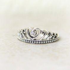 Heart Tiara Sterling silver Ring