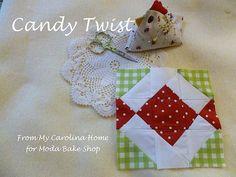 Moda Candy Twist Block at From My Carolina Home