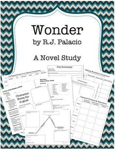 Awesome 170-page novel study unit on the book Wonder by RJ Palacio.