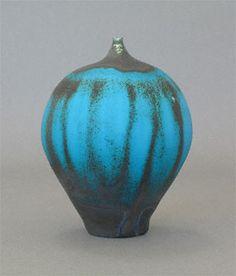 "Rose Cabat, ""Round/Cobalt,"" 2005, ceramic feelie, 3 1/2 x 2 3/4"". Love her work and the unique colors of her pots."