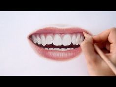 Timelapse | Drawing Coloring realistic lips and teeth with colored pencils | Emmy Kalia - YouTube