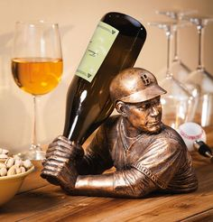 Baseball Batter Wine Holder http://stuffyoushouldhave.com/baseball-batter-wine-holder/