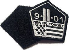 """Never Forget Patch Iron on//Sew on Military 911 12/"""" XXL Biker Vest"""